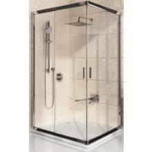 RAVAK BLIX BLRV2K 90 sprchovací kút 880x900x1900mm rohový, posuvný, štvordielny satin / transparent 1XV70U00Z1