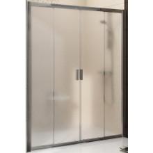 RAVAK BLIX BLDP4 120 sprchové dvere 1170-1210x1900mm štvordielne, posuvné bright alu/grape