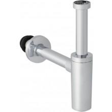 GEBERIT zápachová uzávierka DN32 pre umývadlo, s deliacou stenou, pochrómovaná lesklá