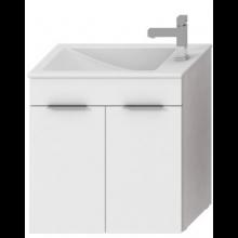 JIKA CUBE skrinka s umývadlom 600x340x607mm, biela / biela 4.5363.1.176.300.1