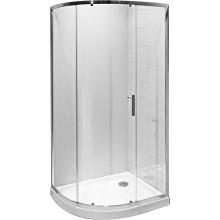 JIKA TIGO asymetrický sprchovací kút 980x780x1950mm ľavopravá varianta, strieborná / transparentná 2.5121.1.002.668.1