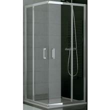 SANSWISS TOP LINE TOPAC sprchový kút 900x1900mm, štvorec, s dvojdielnymi posuvnými dverami, rohový vstup, matný elox/sklo Durlux