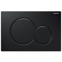 GEBERIT SIGMA 01 ovládacie tlačidlo 24,6x16,4cm, čierna RAL 9005