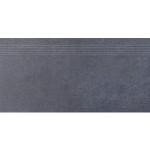 RAKO SANDSTONE PLUS schodovka 30x60cm čierna DCPSE273