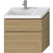 JIKA CUBITO-N skrinka pod umývadlo 740x426x683mm, 2 zásuvky, výrez vpravo, dub