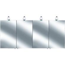 Nábytok zrkadlová skriňa Keuco Royal 30 1600x758x143 mm str. elox/biele sklo