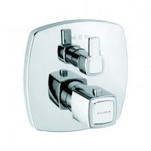 KLUDI Q-BEO vaňová/sprchová batéria 170x170mm, podomietková, termostatická, chróm
