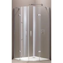 HÜPPE AURA ELEGANCE sprchová zástena 900x900x1900mm strieborná lesklá/sklo číre anti-plaque 400803.092.322