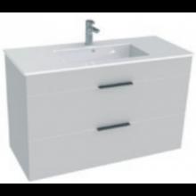 JIKA CUBE skrinka s umývadlom 1000x340x607mm, biela/biela
