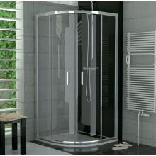 SANSWISS TOP LINE TOPR sprchový kút 900x900x1900mm, štvrťkruh, s dvojdielnymi posuvnými dverami, matný elox/Durlux Aquaperle