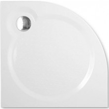 ROLTECHNIK TAHITI-M sprchovacia vanička 900x900x30mm R550 mramorová, štvrťkruhová, biela