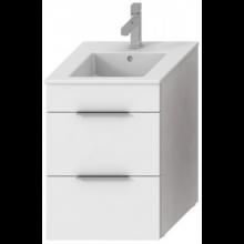 JIKA CUBE skrinka s umývadlom 450x430x607mm, biela / biela 4.5362.2.176.300.1
