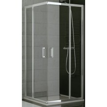 SANSWISS TOP LINE TED2 G sprchové dvere 1000x1900mm, ľavé, dvojkrídlové, rohový vstup, aluchróm/sklo Durlux
