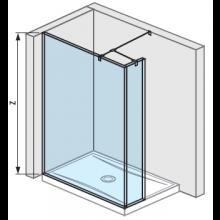 JIKA PURE bočná stena 130 cm, transparentná