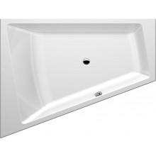 GKI MEMO tvarovaná vaňa 1750 x 1350/700mm polorohová, ľavá, so sprchovou zónou, biela MEBWE175135LW