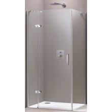 HÜPPE AURA ELEGANCE SW 900 sprchová zástena 885x900x1900mm strieborná lesklá/sklo Privatima Anti-Plaque 400604.092.375