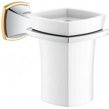 GROHE GRANDERA držiak 127x102mm, s keramickým pohárikom, chróm/zlatá