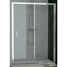 SANSWISS TOP LINE TOPS2 sprchové dvere 1400x1900mm, jednodielne posuvné s pevnou stenou v rovine, biela/sklo Durlux