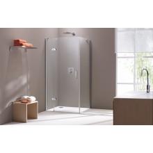 CONCEPT 300 sprchové dvere 800x1900mm krídlové, s pevným segmentom, ľavé, strieborná / číre sklo PT432301.092.322