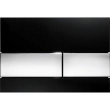 TECE SQUARE ovládacie tlačidlo 220x11x150mm dvojčinné, sklo čierna/chróm