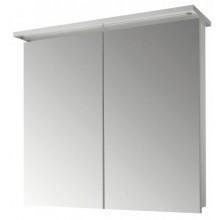 DŘEVOJAS SANI GA 80 2D zrkadlová skrinka 800x200x706mm, s LED osvetlením, N01 biela lesk