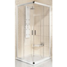 RAVAK BLIX BLRV2-90 sprchovací kút 900x900x1900mm rohový, posuvný, štvordielny satin/grafit