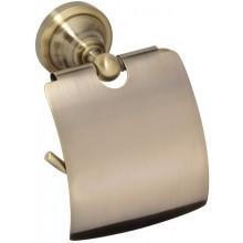 RAV SLEZÁK držiak toaletného papiera 140x150mm s krytom, nástenný, stará mosadz