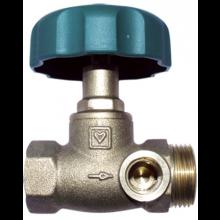 HERZ STRÖMAX-AW uzatvárací ventil DN20 priamy, s vnútorným závitom, s vypúšťaním