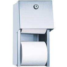 SANELA SLZN26 zásobník dvoch toaletných rolí, na stenu, nerez mat