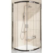 RAVAK BLIX BLCP4 90 sprchovací kút 875-895x875-895x1900mm štvrťkruhový, posuvný, štvordielny satin / grape 3B270U00ZG
