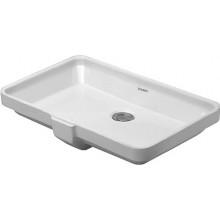 DURAVIT 2ND FLOOR umývadlo 525x350mm vstavané s prepadom, biela 0316530000