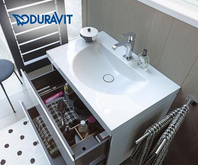 Spojenie umývadla a nábytku - Duravit c-bonded