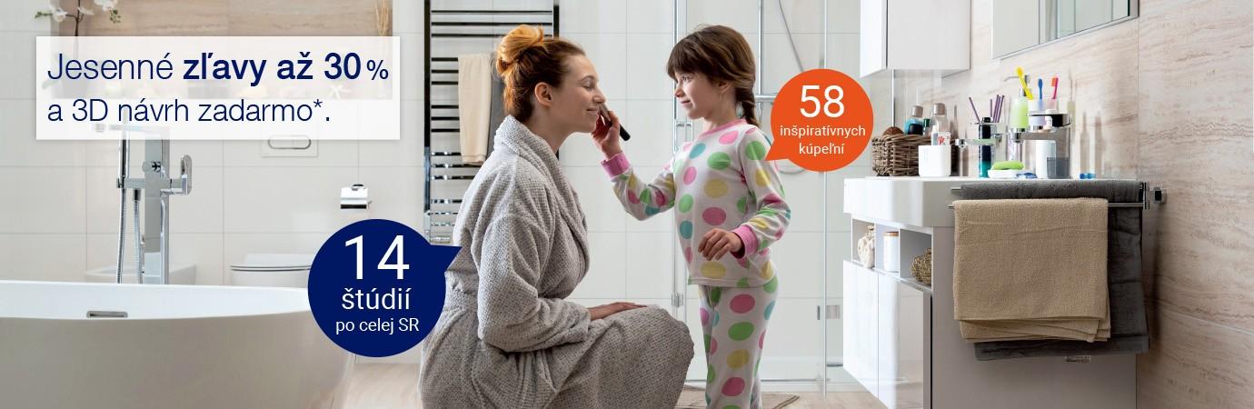 Zľavy až 30% vo všetkých kúpeľňových štúdiách Ptáček